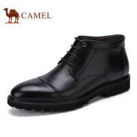 camel骆驼男靴 秋冬新品 商务休闲男靴复古轻量舒适 男皮鞋