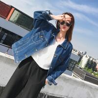 【1折价42.9元】唐狮新款牛仔外套女学生韩版休闲落肩宽松bf风夹克上衣潮