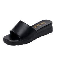 大东同款同款凉拖鞋女41-43码中跟中年妈妈拖鞋42码坡跟平底大码凉鞋32 码