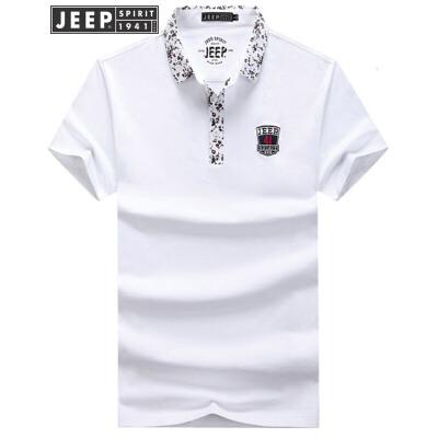 吉普Jeep短袖T恤男 男士夏季舒适棉质t恤 商务休闲翻领男式POLO衫品质工艺,舒适棉质男士短T,质量保障