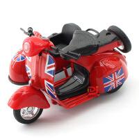铭源 仿真复古三轮小绵羊合金摩托车 儿童回力玩具车摆件模型