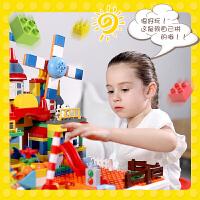 儿童多功能积木桌子男女孩益智积木拼装大颗粒玩具