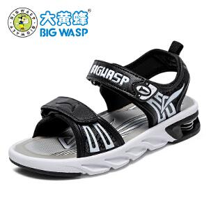 大黄蜂男童鞋 2017新款夏季儿童凉鞋 男童防滑沙滩鞋中大童鞋韩版
