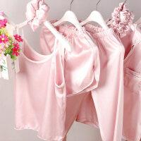 女童睡衣春秋女孩夏季套装薄款儿童家居服公主睡衣长袖七件套子