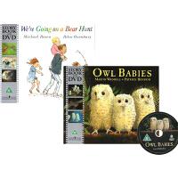 Going on a Bear Hunt /Owl Babies/Handa's Surprise 英文原版绘本 3书3DVD 一起去猎熊/小猫头鹰/汉娜的惊喜 廖彩杏书单 趣味图画绘本