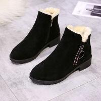 雪地靴女冬季加绒保暖马丁靴短靴2019新款百搭韩版加厚棉鞋女靴子