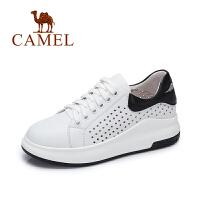 Camel/骆驼女鞋 春夏新款厚底镂鞋 休闲百搭运动透气小白鞋