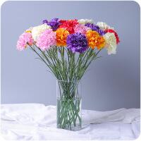 仿真花 康乃馨绢布仿真花束客厅餐桌装饰摆件假花塑料仿真花