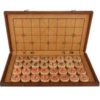 象棋套装成人实木棋盘折叠皮革家用儿童学生榉木大号中国象棋