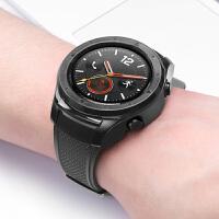 新款华为watch2手表保护壳保护套PC防摔防刮套 多彩个性华为智能手表2代壳套塑料硅胶PC硬壳 +钢化膜2片