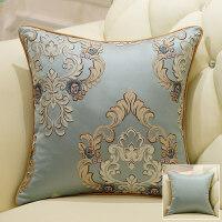 欧式简约靠垫沙发抱枕客厅卧室靠枕床头大靠背抱枕套不含芯 欧纳斯 灰蓝