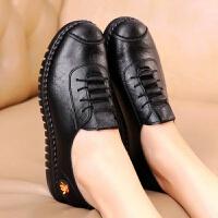 新2019春款妈妈鞋老北京软底软皮单鞋舒适孕妇鞋中老年女皮鞋
