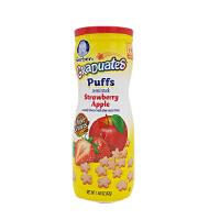 【当当海外购】美国Gerber嘉宝 草莓苹果星星泡芙 42g 宝宝辅食