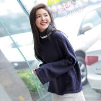 【1件包邮139元】唐狮秋冬毛衣女高领套头韩版针织衫可爱学生长袖毛衫宽松线衫