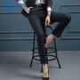 【暖冬季 限时秒杀】女先生2019新款韩版职业西裤女显瘦条纹女士西装裤直筒长裤