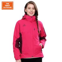 美国第一户外 冬季新款冲锋衣女三合一两件套防水透气 登山服加厚保暖