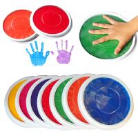 幼儿园手指手掌画颜料彩色印泥印台大号手掌颜料印台无毒可水洗