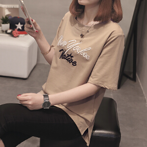 新款短袖t恤女韩版学生时尚夏季打底衫体恤女装