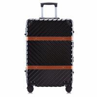 2018新款品牌韩范复古PC拉杆箱配色铝框行李箱万向轮旅行箱20登机箱男女潮