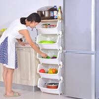 门扉 置物架 加厚大号厨房置物架落地水果蔬菜置物架厨房用品多层叠加转角架菜架子 创意厨房用品 收纳柜
