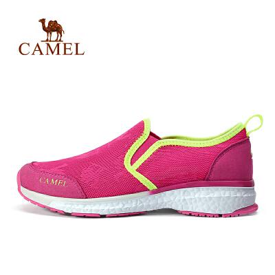 camel骆驼户外徒步鞋 春夏女款透气防滑耐磨套脚徒步鞋