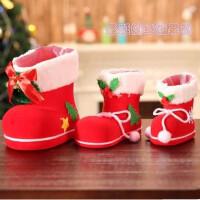 圣诞节装饰品圣诞糖果袋平安夜礼物糖果鞋红靴子幼儿园圣诞节礼品