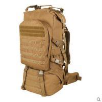 户外军迷背包双肩战术双肩包65L迷彩背包登山包徒步野营包旅行包 可礼品卡支付
