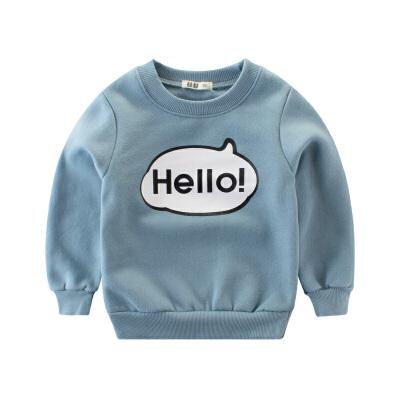 男童卫衣抓绒 中小童百搭宝宝上衣