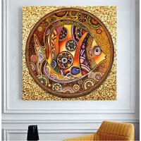 客厅卧室小幅彩绘金鱼砖石秀年年有余十字绣动物卡通儿童满钻贴钻