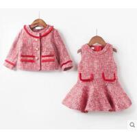 秋冬装新女童小女孩公主宝宝洋气网红套装裙1-5岁童装小香风套装