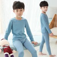 男童保暖内衣套装儿童秋衣秋裤中大童睡衣家居服薄款