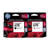 惠普HP 678 号黑色+三色墨盒一套