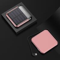 20190617055256759充电宝大容量超薄便携oppo可爱小巧迷你MIUI华为通用手机快充太阳能20000M毫