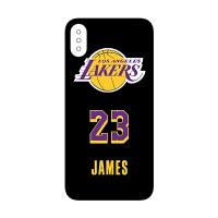 湖人队新赛季球衣james詹姆斯iphoneXsMax8plus苹果手机磨砂软壳 黑色大标款 5/5s/SE
