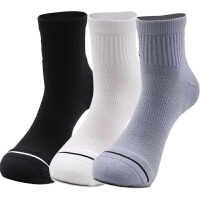 Nike耐克男袜女袜三双装运动袜中筒袜子SX5544-017