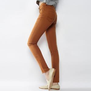 【2件3折价47.7元】唐狮休闲裤女款学生时尚韩版弹力素色基本小脚休闲裤