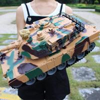 超大充电遥控坦克车可发射金属儿童对战模型男孩生日礼物玩具儿童节礼物