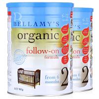 【2段】保税区发货 Bellamy's贝拉米 有机婴幼儿有机奶粉 二段(6-12个月) 900g*2罐 海外购