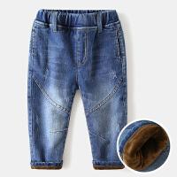 儿童牛仔裤加绒宝宝童装男童裤子长裤