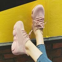 女鞋街拍夏季小白鞋女老爹鞋2019春季新款运动鞋平底