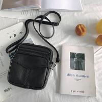 女士包包斜挎包 黑色复古斜挎小皮包女迷你小包包2018新款小方包 黑色