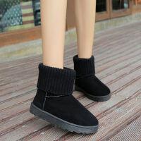 雪地靴女款学生韩版短筒短靴加厚保暖棉鞋冬季2019新款加绒女靴子