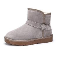 camel骆驼牌情侣款雪地靴 棉鞋男冬季保暖休闲加绒靴女鞋雪地靴
