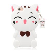 法芘兔 iPhone6 手机壳 4.7寸招财猫防摔硅胶套 苹果6s女款保护套