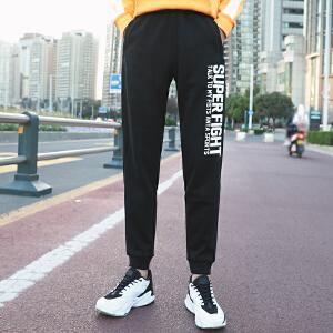 安踏男裤运动裤秋季休闲裤字母百搭小脚裤跑步运动长裤15647752