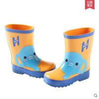 时尚卡通儿童可爱动物户外徒步中筒雨鞋男女童透气防滑耐磨雨靴 可礼品卡支付