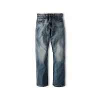 Wrangler/威格牛仔裤男美国直邮正品春夏季新款浅色百搭洗水直筒纯棉牛仔裤88MWZDK