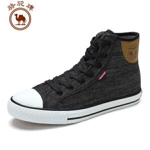 骆驼牌 秋季新款 系带高帮帆布鞋时尚潮流百搭男鞋舒适耐磨