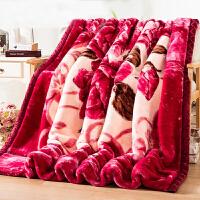 拉舍尔毛毯加厚双层盖毯宿舍珊瑚绒毯子保暖冬季单人双人