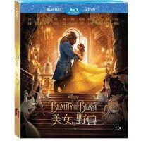 迪士尼蓝光电影 美女与野兽 真人版高清BD50+DVD光盘碟片英语